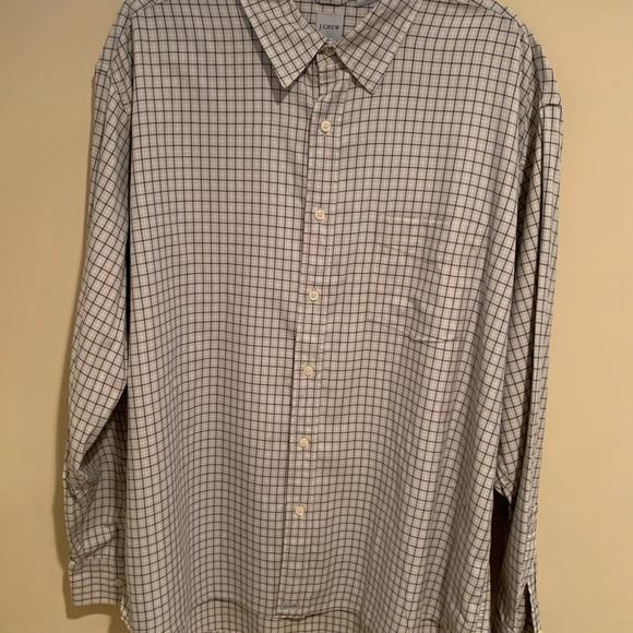 Men's J Crew long sleeve button down shirt